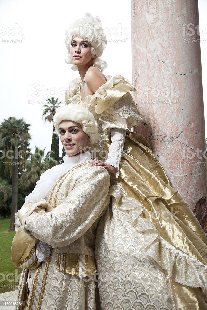 18th Century Marie Antoinette Style Costume Shoot stock photo