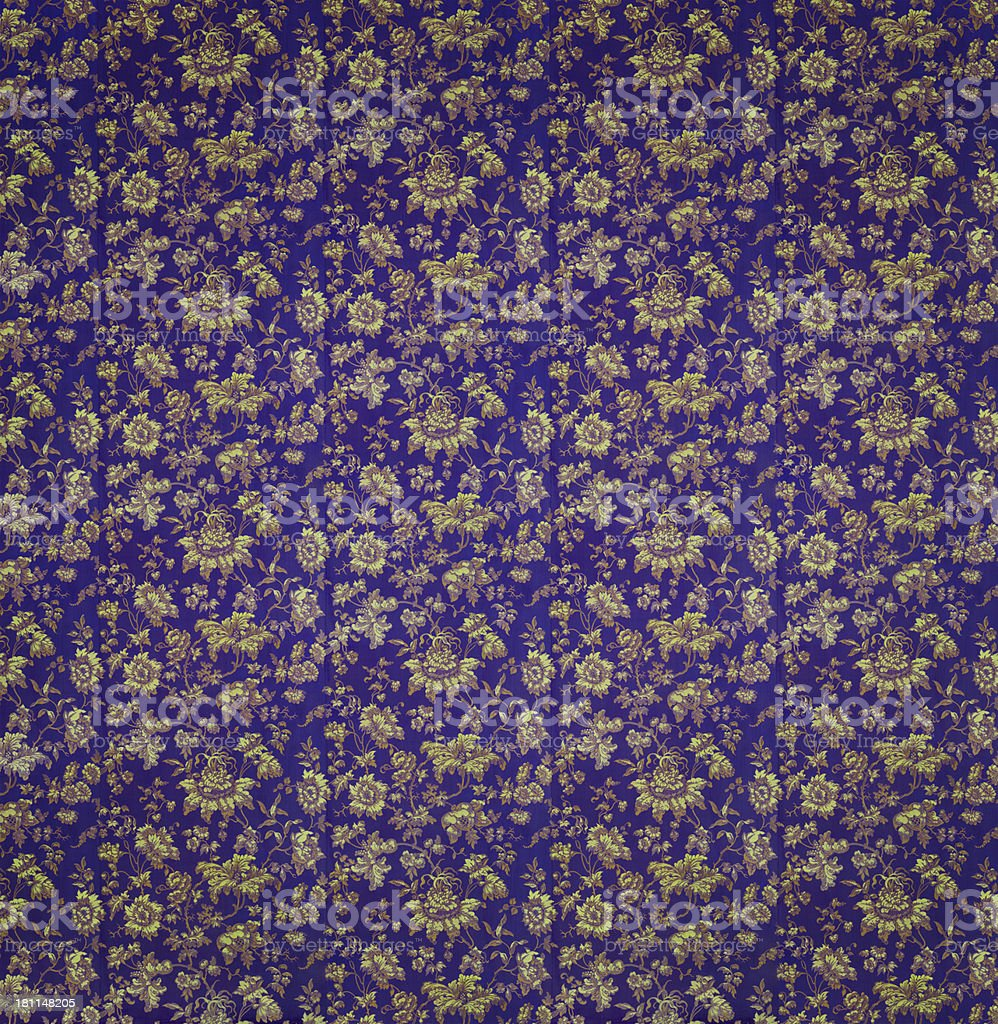 18th Century Royal Blue Wallpaper royalty-free stock photo