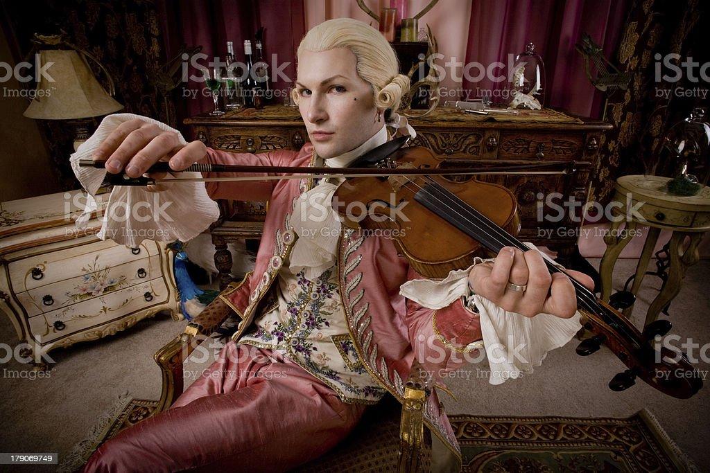 18th century serenade stock photo