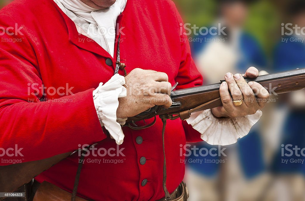 18th century soldier royalty-free stock photo