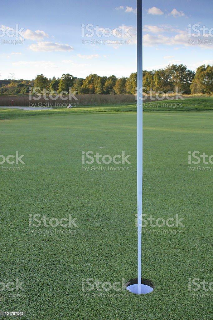 18th green stock photo