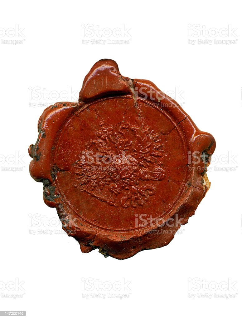 1900s wax seal stock photo