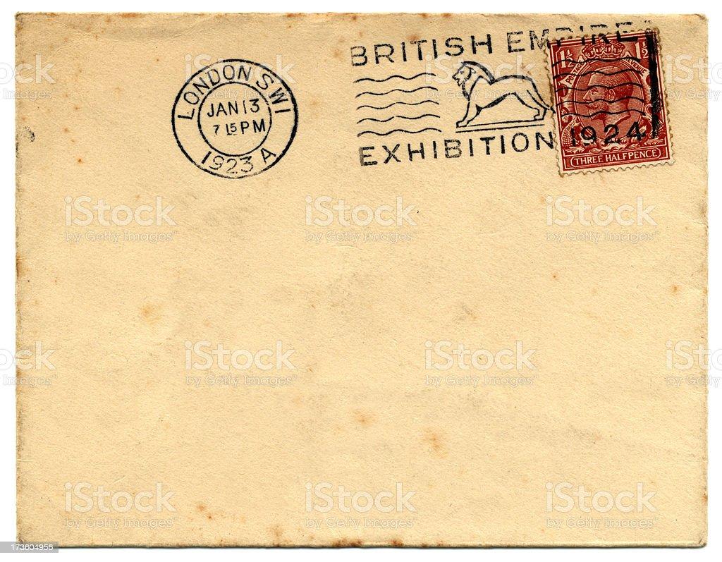 1920s British envelope stock photo