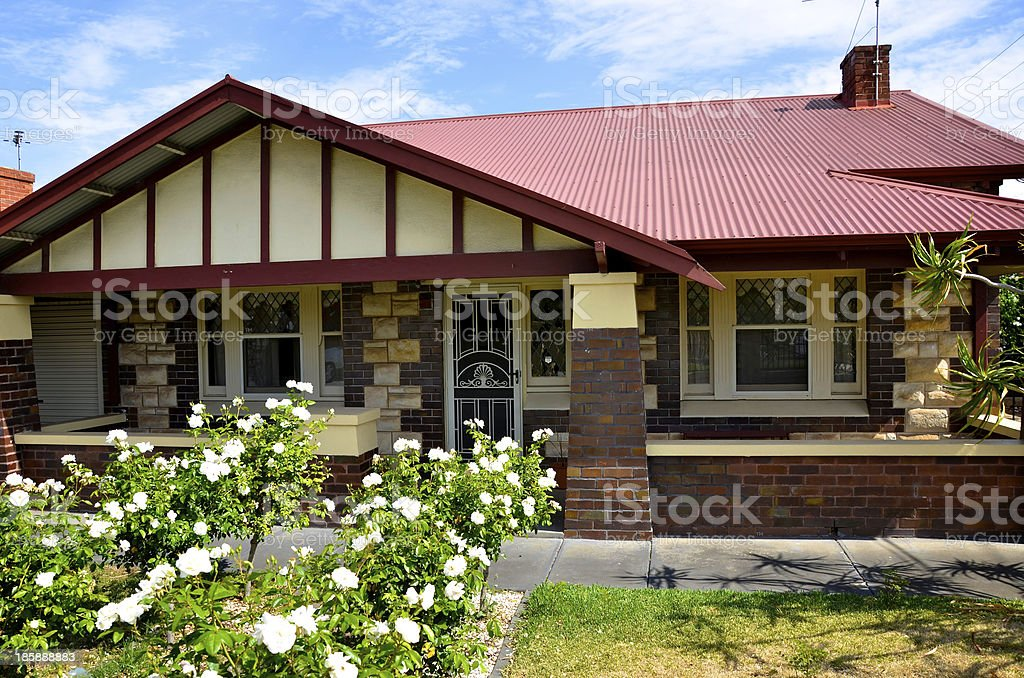 1920s Bungalow house stock photo