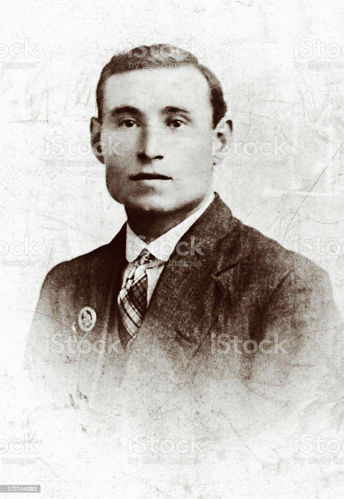 1920s man stock photo