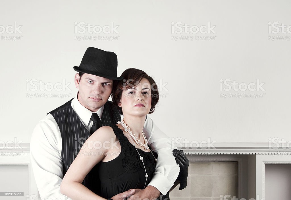 1920s Style Mobster Couple stock photo