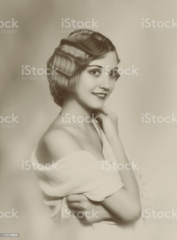 1920s style. Soft Silk. royalty-free stock photo