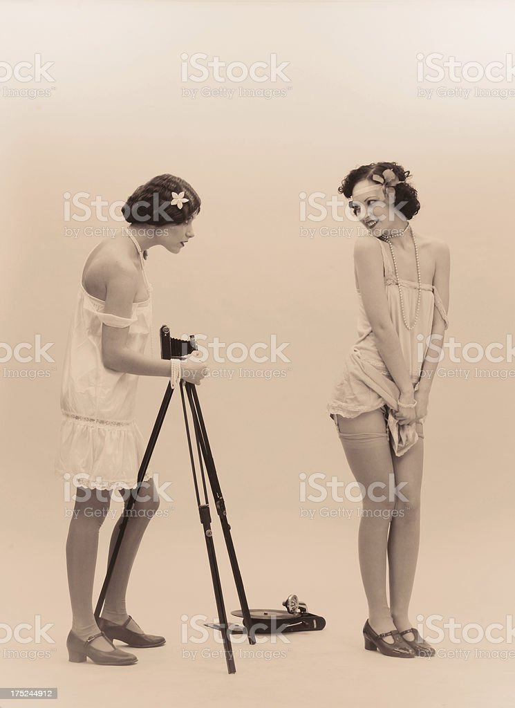 1920s style.On a photo hunt royalty-free stock photo