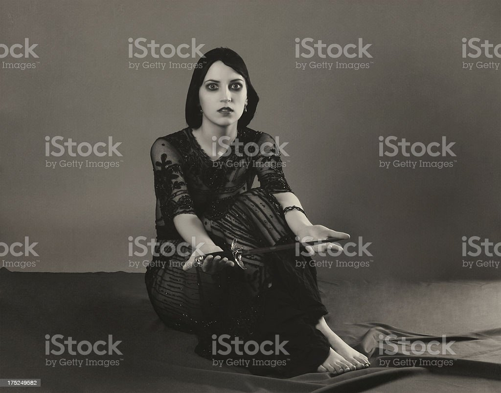 1920s style.Revelation of Medea. royalty-free stock photo