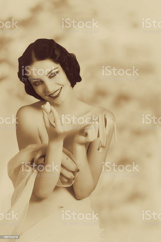 1920s style.Tropical fruit royalty-free stock photo