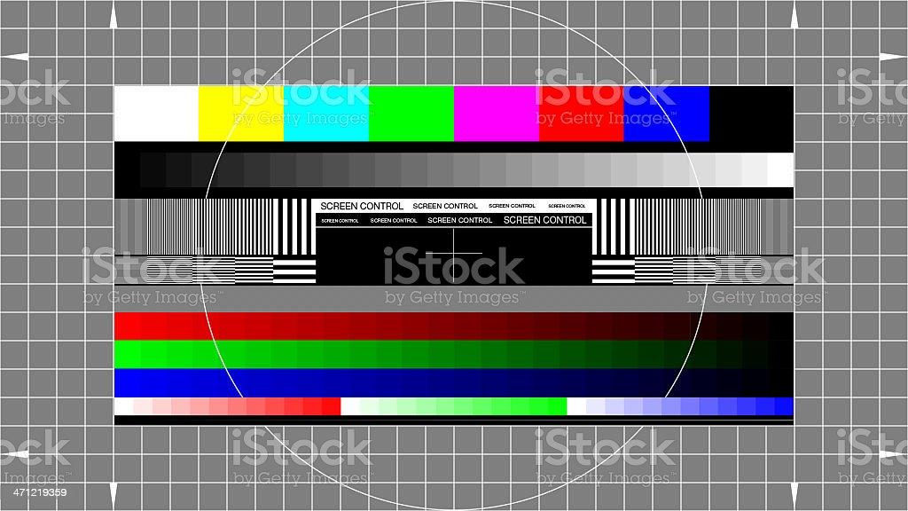 1920x1080 Full HD test patern royalty-free stock photo