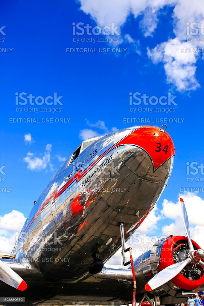 1930s Douglas Dc3 plane stock photo