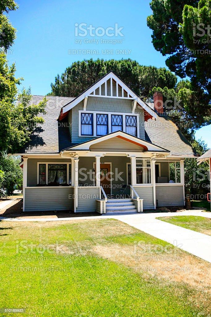 1930s modernized townhouse in Santa Paula, California stock photo