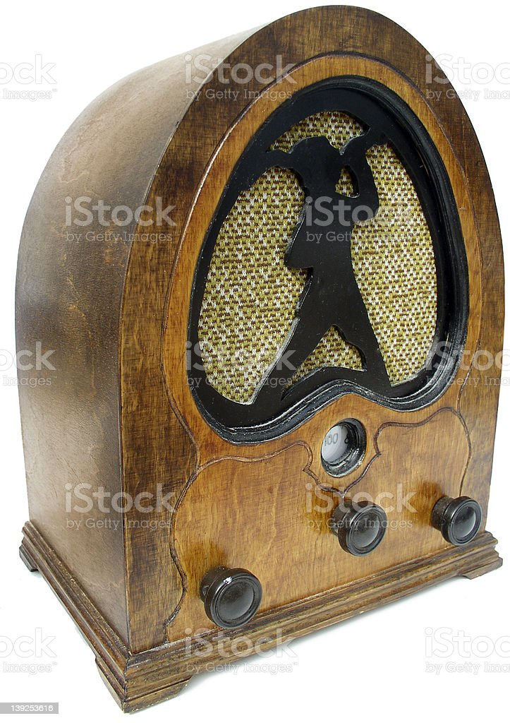 1930s radio royalty-free stock photo