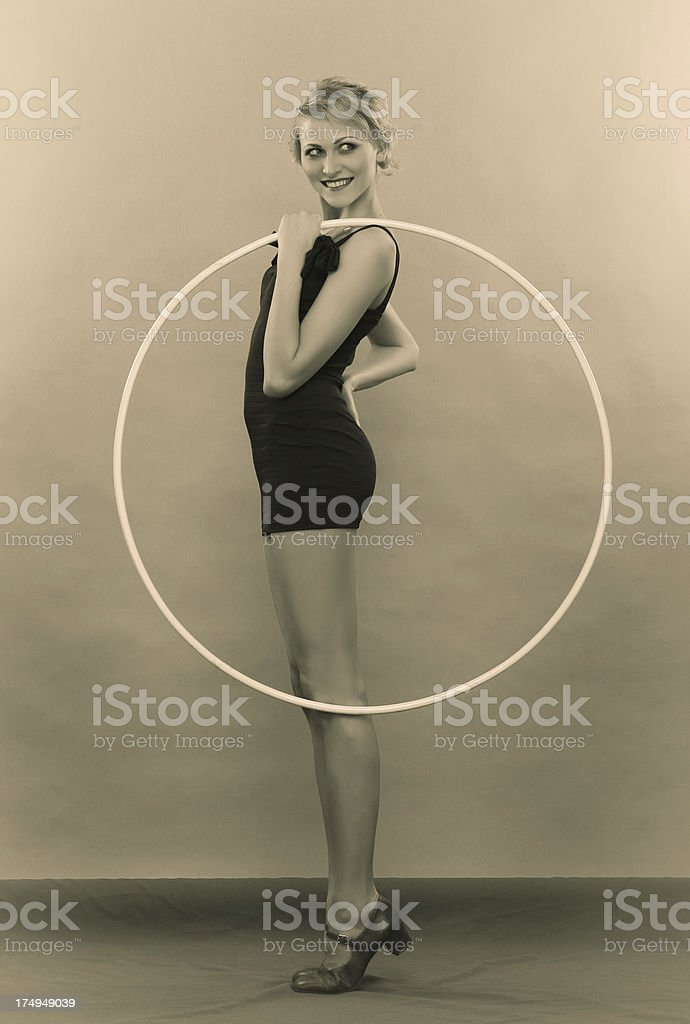 1930s style. Hoopla time! stock photo