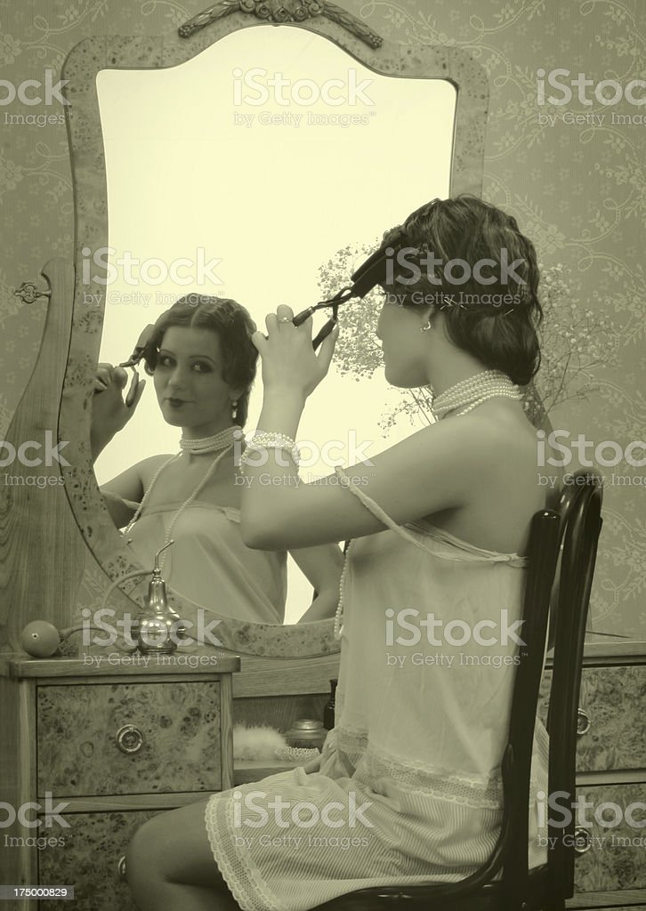 1930s style.Little Morning Traditions royalty-free stock photo