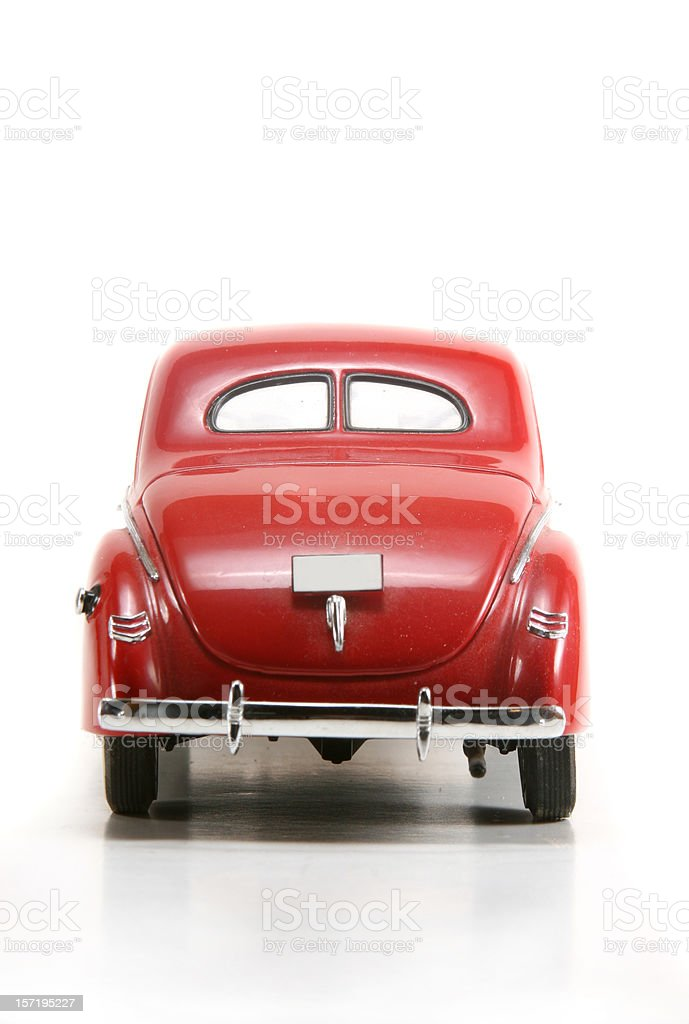 1940s car rear stock photo