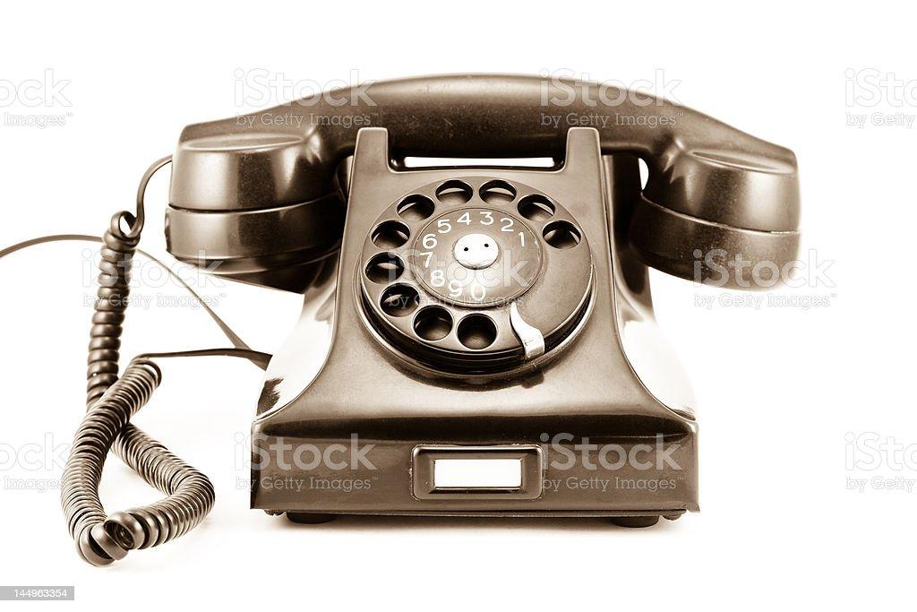 1940s Era Phone - Old Sepia Photo royalty-free stock photo