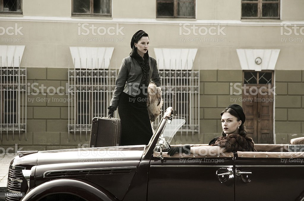 1940s Style. A Road Trip. royalty-free stock photo