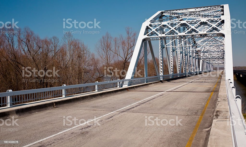 1940s style bridge painted white and restored. royalty-free stock photo