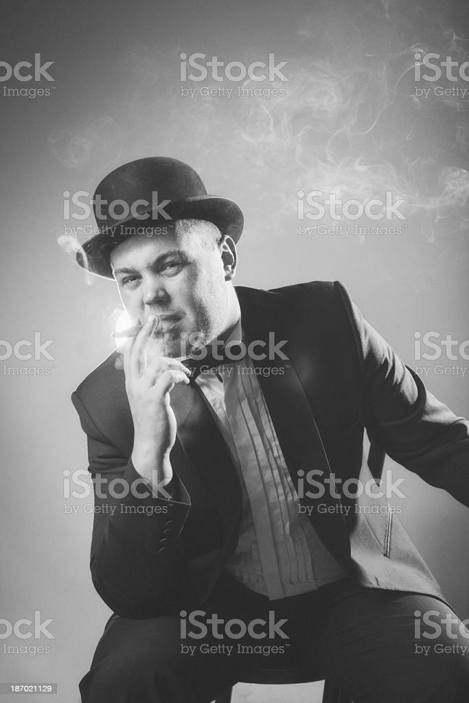 1940s Style. Gangster stock photo