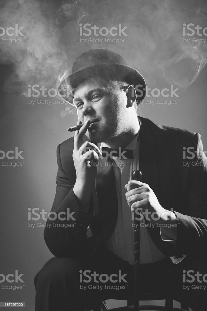1940s Style. Gangster royalty-free stock photo