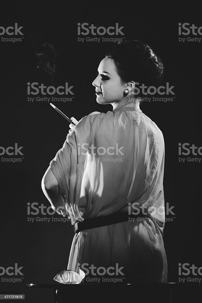 1940s style. Pure Elegance royalty-free stock photo