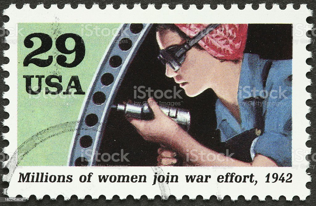 1940s woman laborer royalty-free stock photo
