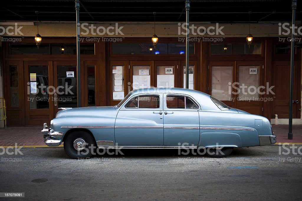 1950s automobile in New Orleans royalty-free stock photo