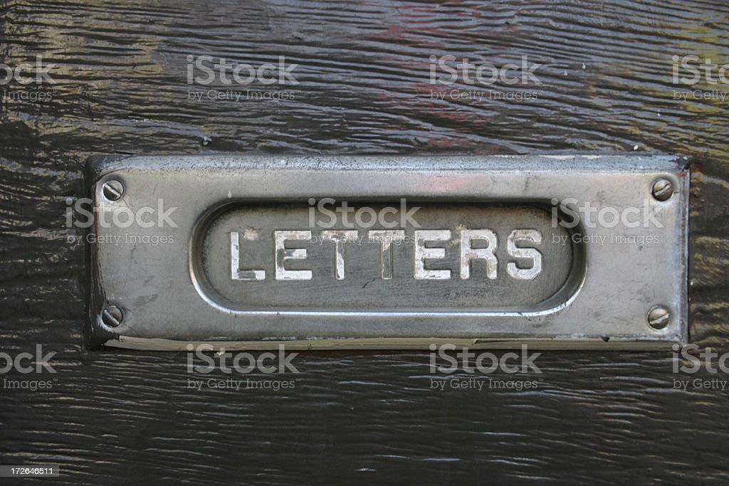 1950s Era Mail Slot stock photo