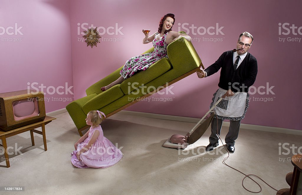 1950s family man stock photo