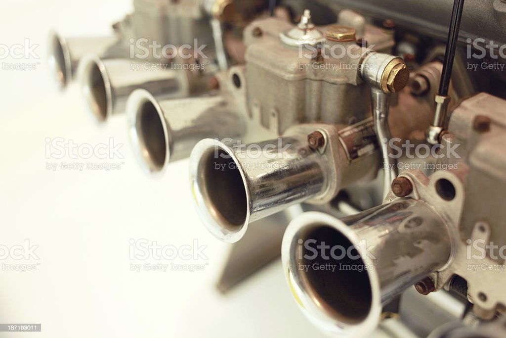 1950s formula one racing engine detail royalty-free stock photo