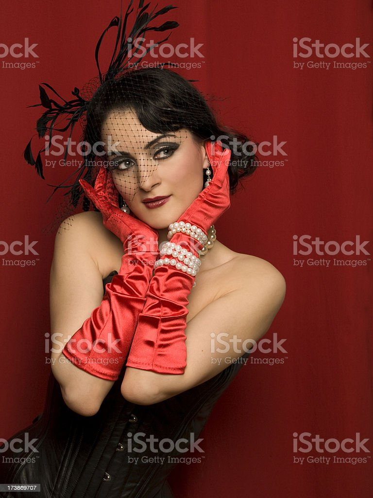 1950s Glamour royalty-free stock photo