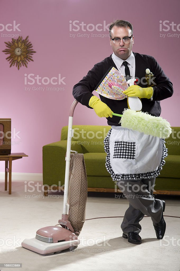 1950s househusband stock photo