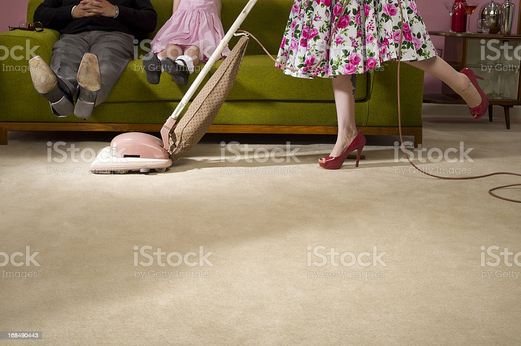 1950s housework stock photo