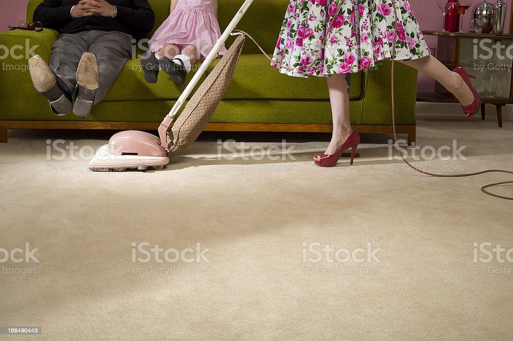1950s housework stock photo