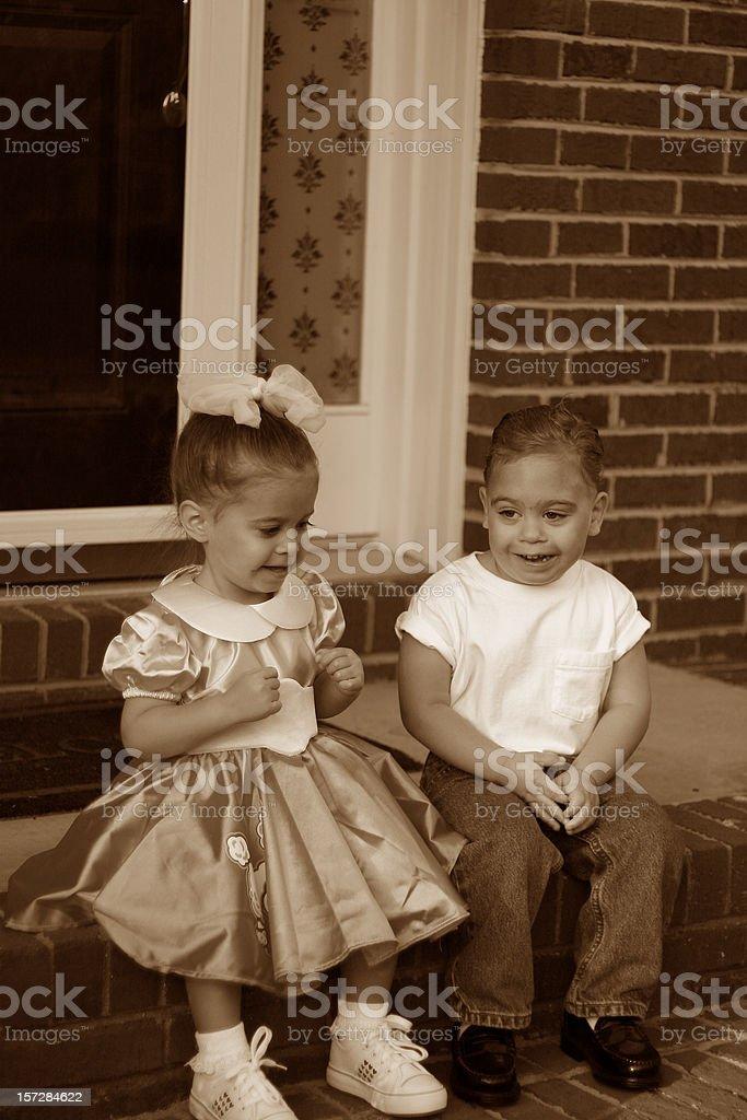 1950s Kids stock photo