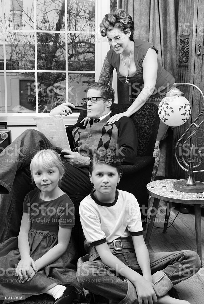 1950s Nuclear Family stock photo