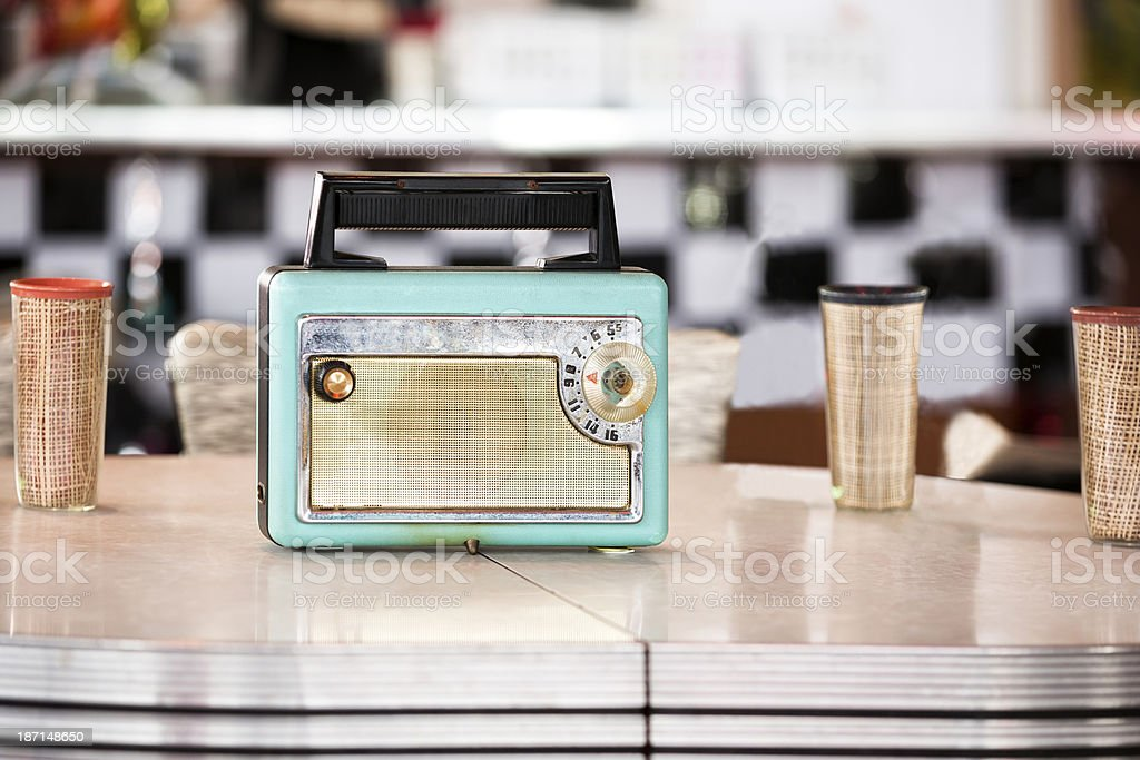 1950s Style Transistor Radio stock photo
