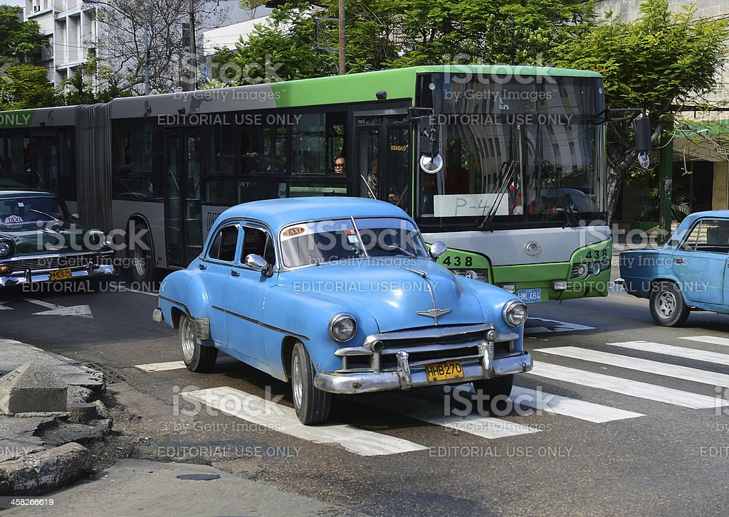 1950s taxi in Havana stock photo