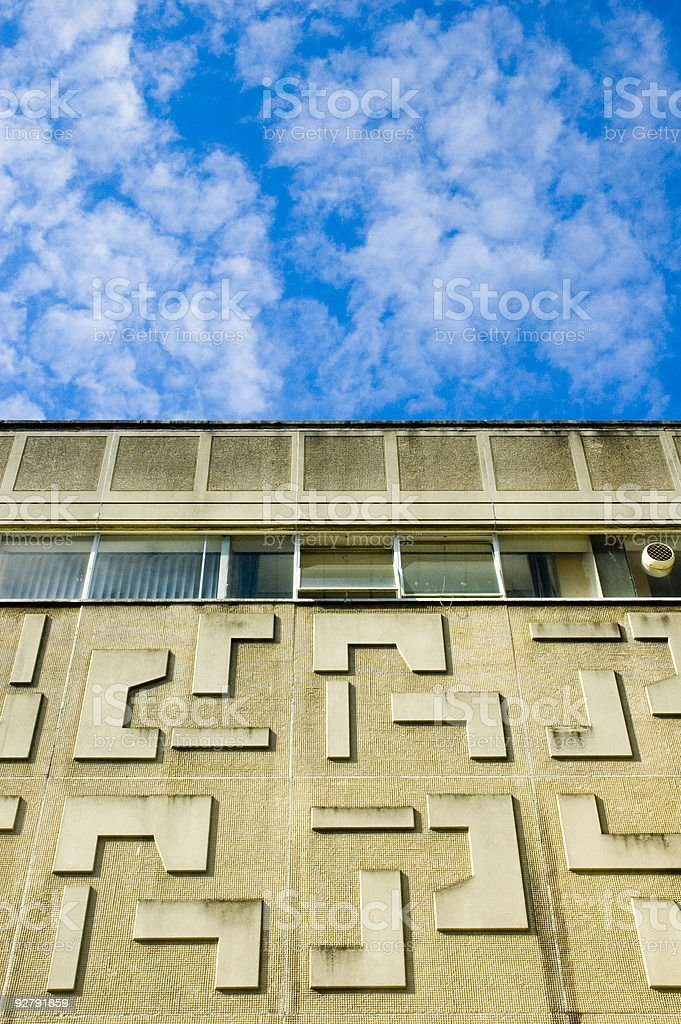 1960s office and sky stock photo