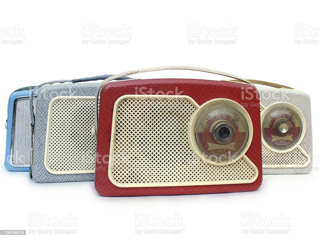 1960s radios stock photo