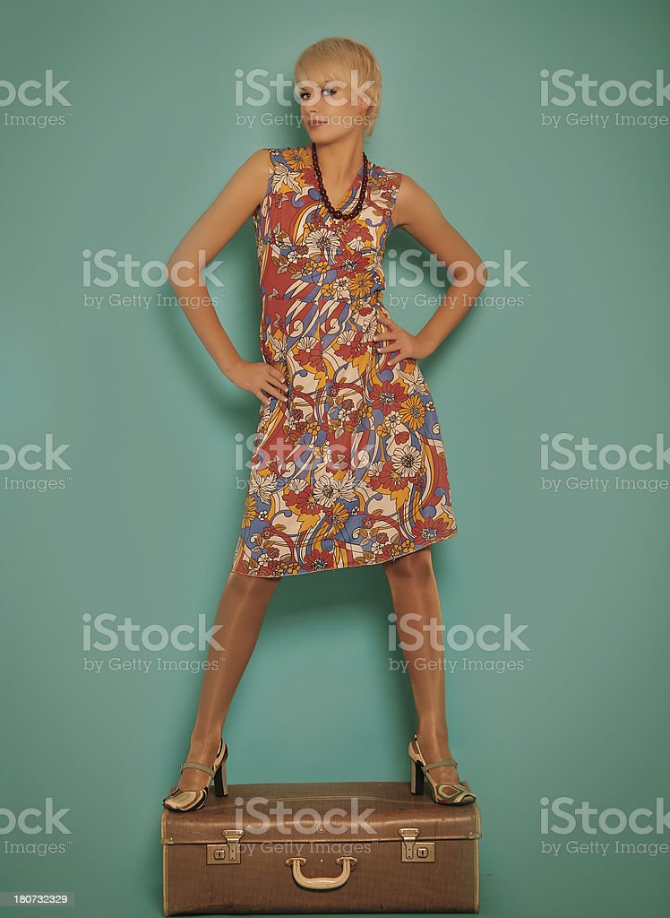 1960s style.Fashion portrait royalty-free stock photo