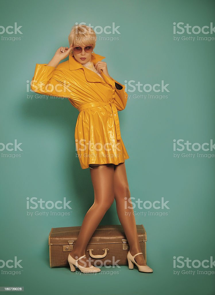 1960s style.Fashion portrait royalty-free stock photo