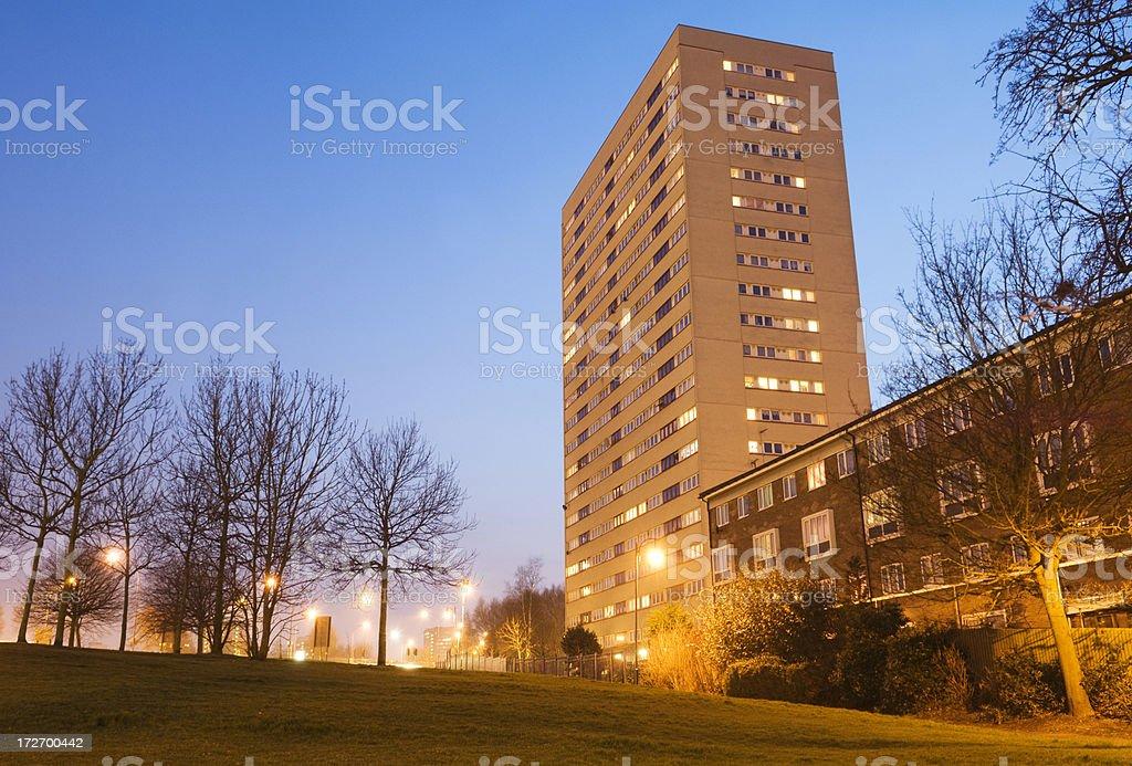 1960s Tower Block in Birmingham UK royalty-free stock photo