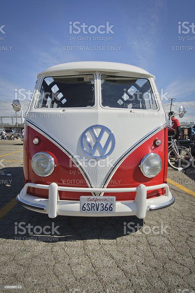 1960s VW Deluxe Microbus T1 Type 2 Samba-Bus stock photo