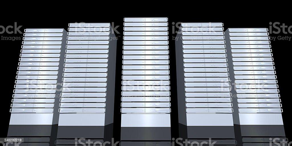 19inch Serverracks stock photo