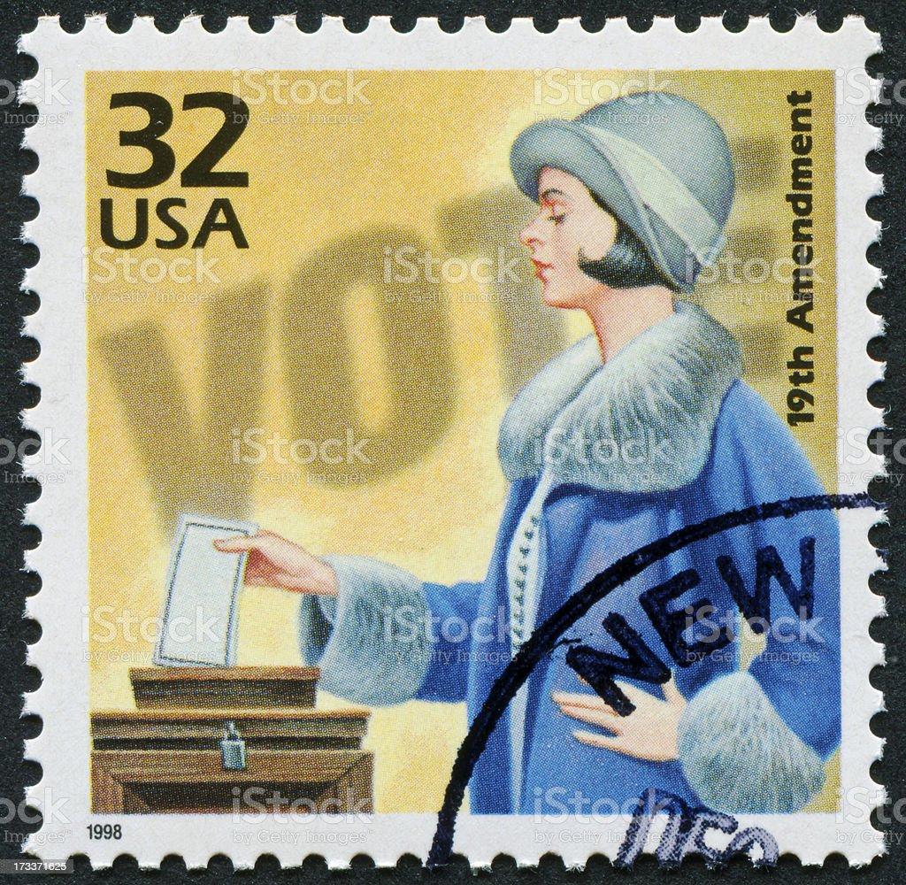 19th Amendment Stamp stock photo