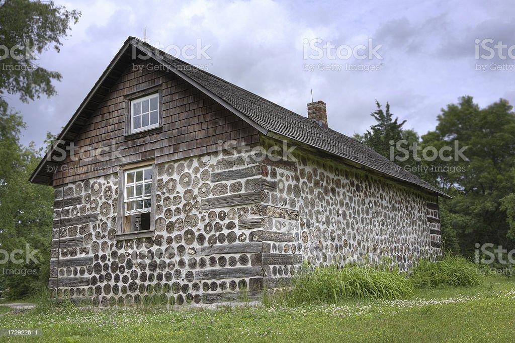 19th Century Cabin royalty-free stock photo