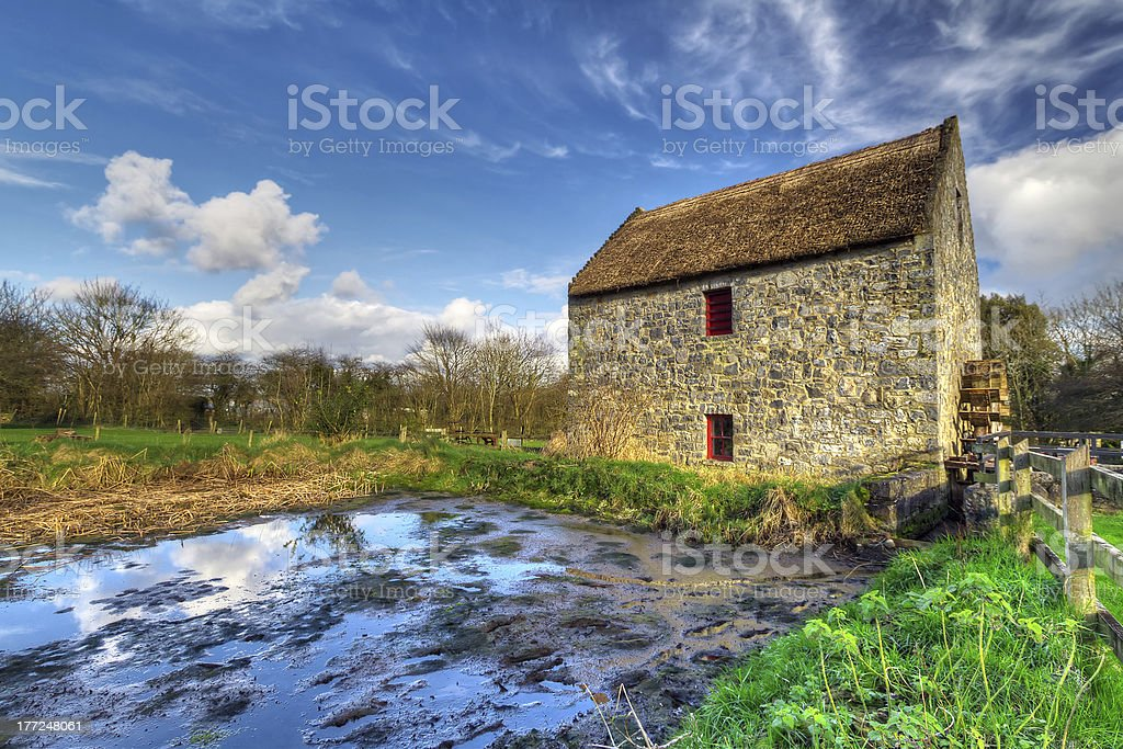 19th century corn mill stock photo
